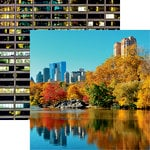Reminisce - New York Collection - 12 x 12 Double Sided Paper - Central Park