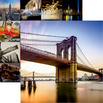 Reminisce - New York Collection - 12 x 12 Double Sided Paper - Brooklyn Bridge