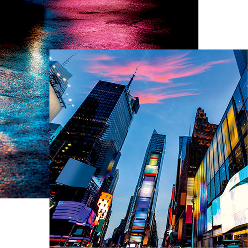 Reminisce - New York Collection - 12 x 12 Double Sided Paper - Times Square