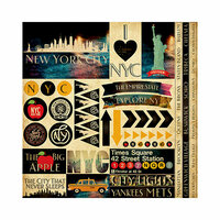 Reminisce - New York Collection - 12 x 12 Cardstock Stickers - Multi