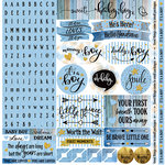 Reminisce - Oh Baby Boy Collection - 12 x 12 Cardstock Stickers - Alphabet