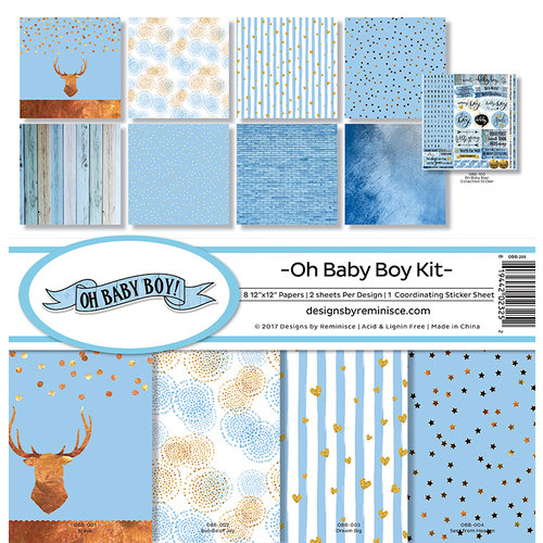 Reminisce - Oh Baby Boy Collection - 12 x 12 Collection Kit