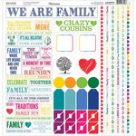 Reminisce - Our Family Collection - 12 x 12 Cardstock Stickers - Multi