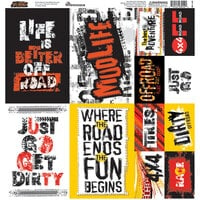 Reminisce - Off-Road Collection - 12 x 12 Cardstock Stickers - Poster