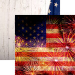Reminisce - Old Glory Collection - 12 x 12 Double Sided Paper - Stars & Stripes