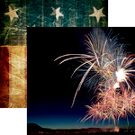 Reminisce - Old Glory Collection - 12 x 12 Double Sided Paper - Fireworks