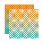 Reminisce - Ombre Collection - 12 x 12 Double Sided Paper - Summer Sunsets