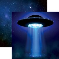 Reminisce - Out of this World Collection - 12 x 12 Double Sided Paper - UFO