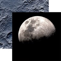 Reminisce - Out of this World Collection - 12 x 12 Double Sided Paper - Moon