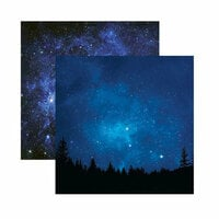 Reminisce - Outer Space Collection - 12 x 12 Double Sided Paper - Under the Stars