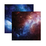 Reminisce - Outer Space Collection - 12 x 12 Double Sided Paper - Deep Space