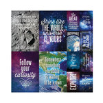 Reminisce - Outer Space Collection - 12 x 12 Cardstock Stickers - Poster