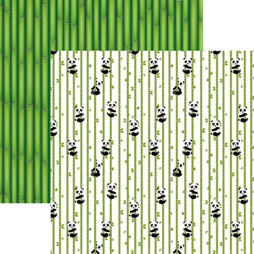 Reminisce - Panda-monium Collection - 12 x 12 Double Sided Paper - Bamboo Panda Bears