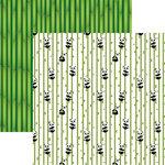 Reminisce - Panda-monium Collection - 12 x 12 Double Sided Paper - Bamboo Panda Bears