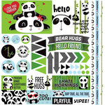 Reminisce - Panda-monium Collection - 12 x 12 Cardstock Stickers - Elements