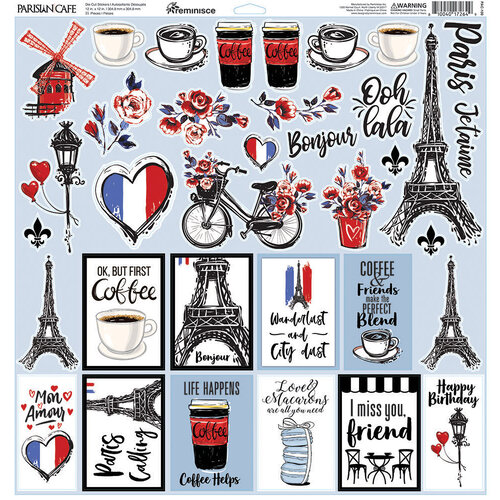 Reminisce - Parisian Cafe Collection - 12 x 12 Elements Sticker