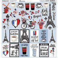 Reminisce - Parisian Cafe Collection - 12 x 12 Elements Sticker
