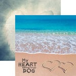 Reminisce - Pawprints On My Heart Collection - 12 x 12 Double Sided Paper - My Heart Belongs to My Dog