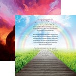 Reminisce - Pawprints On My Heart Collection - 12 x 12 Double Sided Paper - Rainbow Bridge