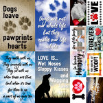 Reminisce - Pawprints On My Heart Collection - 12 x 12 Cardstock Stickers - Poster