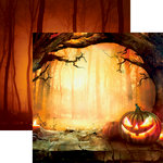 Reminisce - Pumpkin Hallow Collection - 12 x 12 Double Sided Paper - Sunset Pumpkin