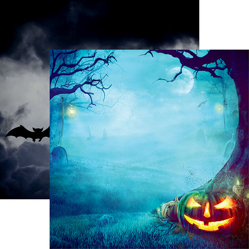Reminisce - Pumpkin Hallow Collection - 12 x 12 Double Sided Paper - Night of the Pumpkin