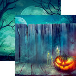 Reminisce - Pumpkin Hallow Collection - 12 x 12 Double Sided Paper - Fenced Pumpkin