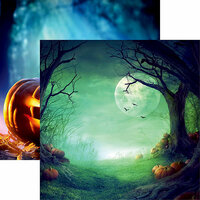 Reminisce - Pumpkin Hallow Collection - 12 x 12 Double Sided Paper - Pumpkin Hallow