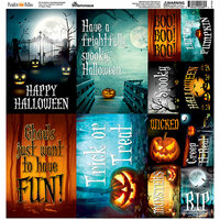 Reminisce - Pumpkin Hallow Collection - 12 x 12 Cardstock Stickers - Poster