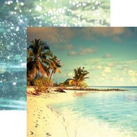 Reminisce - Picture Perfect Collection - 12 x 12 Double Sided Paper - Paradise Beach