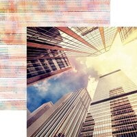 Reminisce - Picture Perfect Collection - 12 x 12 Double Sided Paper - City Heights