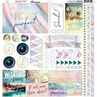 Reminisce - Picture Perfect Collection - 12 x 12 Elements Sticker