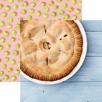 Reminisce - Pie Time Collection - 12 x 12 Double Sided Paper - Apple Pie