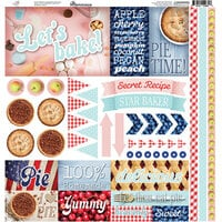 Reminisce - Pie Time Collection - 12 x 12 Cardstock Stickers - Elements