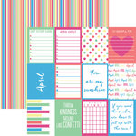 Reminisce - Planit Now Collection - 12 x 12 Double Sided Paper - April