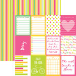 Reminisce - Planit Now Collection - 12 x 12 Double Sided Paper - May