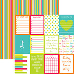 Reminisce - Planit Now Collection - 12 x 12 Double Sided Paper - June