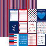 Reminisce - Planit Now Collection - 12 x 12 Double Sided Paper - July