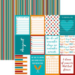 Reminisce - Planit Now Collection - 12 x 12 Double Sided Paper - August
