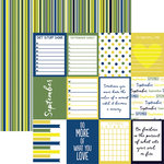 Reminisce - Planit Now Collection - 12 x 12 Double Sided Paper - September