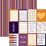Reminisce - Planit Now Collection - 12 x 12 Double Sided Paper - October
