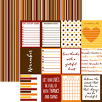 Reminisce - Planit Now Collection - 12 x 12 Double Sided Paper - November
