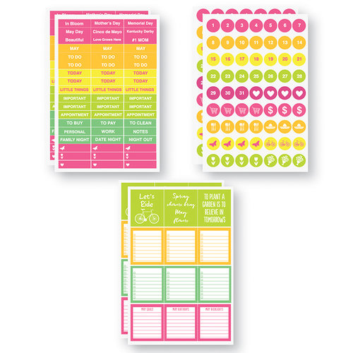 Reminisce - Planit Now Collection - Cardstock Stickers - May