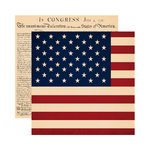 Reminisce - Party in the USA - 12 x 12 Double Sided Paper - All American
