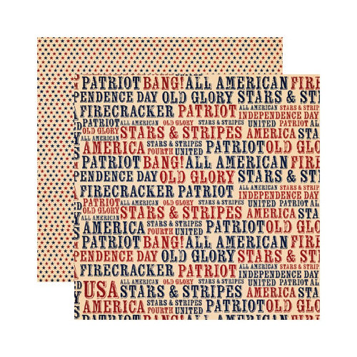 Reminisce - Party in the USA - 12 x 12 Double Sided Paper - Party in the USA