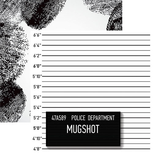 Reminisce - Police Collection - 12 x 12 Double Sided Paper - Mugshot