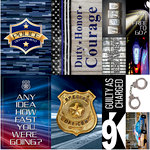 Reminisce - Police Collection - 12 x 12 Cardstock Stickers - Poster