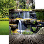 Reminisce - Photo Shoot Collection - 12 x 12 Double Sided Paper - Waterfall Landscape