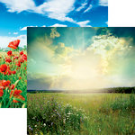 Reminisce - Photo Shoot Collection - 12 x 12 Double Sided Paper - Meadow Landscape