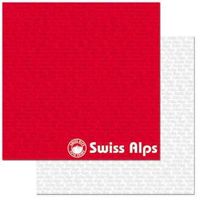Reminisce - Passports Collection - 12 x 12 Double Sided Paper - The Alps